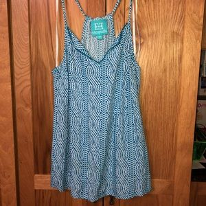 Escapada Patterned Tank with Embellished Neckline